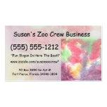 Imagen de fondo colorida en colores pastel del wat tarjetas de visita