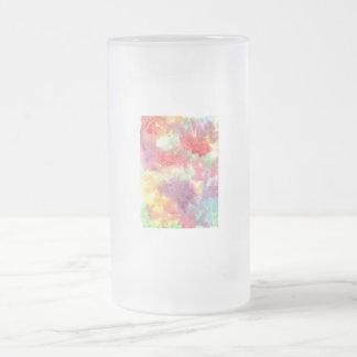 Imagen de fondo colorida en colores pastel del wat taza cristal mate