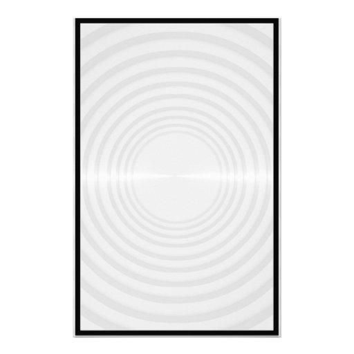 Imagen de fondo redonda de los listones del metal papeleria personalizada