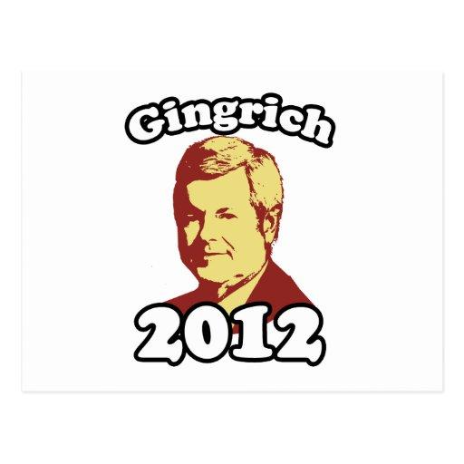 Imagen de Gingrich 2012 Tarjetas Postales