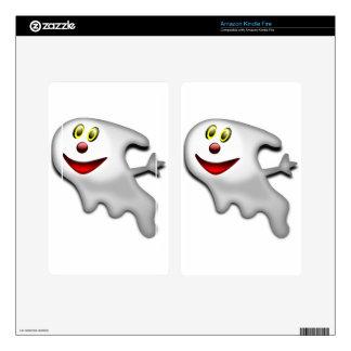 Imagen de Halloween del fantasma Kindle Fire Skins