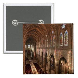 Imagen de HDR del interior de la basílica, Quito,  Pin Cuadrada 5 Cm