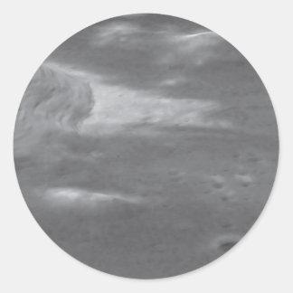 Imagen de Hubble sobrepuesta en el modelado del Pegatina Redonda