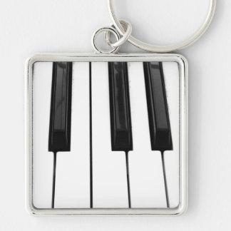 Imagen de imagen blanca negra de la llave de tecla llavero