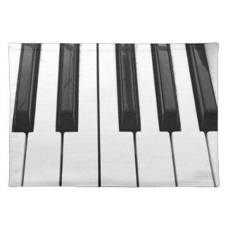 Imagen de imagen blanca negra de la llave de tecla mantel individual