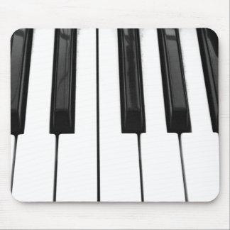Imagen de imagen blanca negra de la llave de tecla alfombrillas de ratón