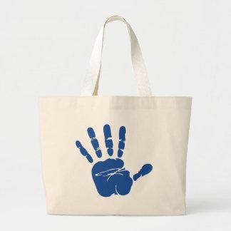 Imagen de impresión de la mano bolsas lienzo