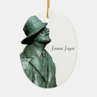 Imagen de James Joyce para el ornamento oval Adorno Navideño Ovalado De Cerámica