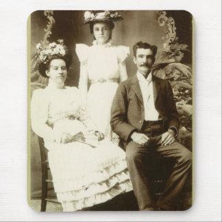 Imagen de la antigüedad del vintage de la familia tapete de ratón
