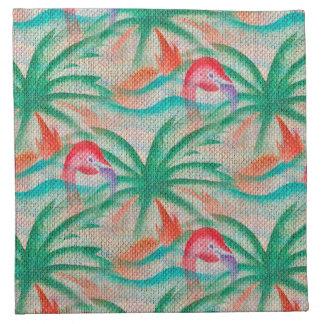 Imagen de la arpillera de la palmera del flamenco servilleta de papel