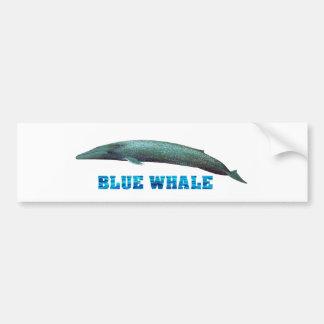 Imagen de la ballena azul para la pegatina para el pegatina para auto