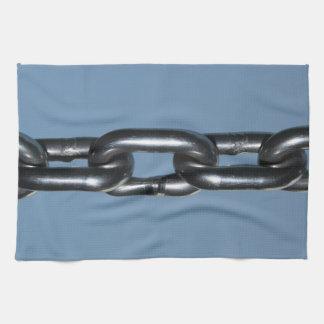 Imagen de la cadena en azul toalla de cocina