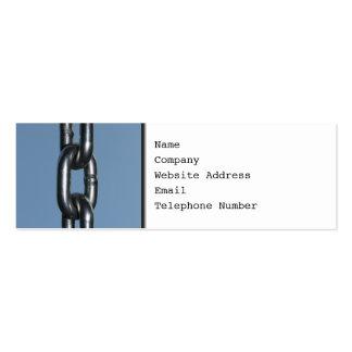 Imagen de la cadena en azul plantillas de tarjeta de negocio