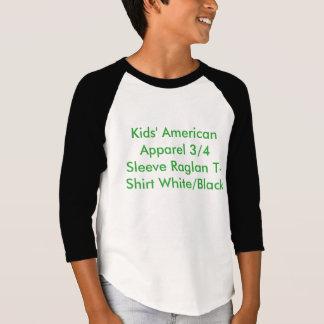 Imagen de la camiseta del raglán de los niños