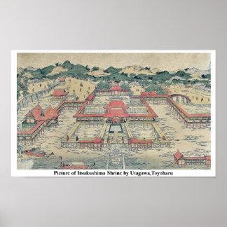 Imagen de la capilla de Itsukushima por Utagawa, T Posters