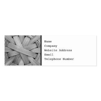 Imagen de la cesta gris plantilla de tarjeta de visita