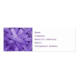 Imagen de la cesta púrpura tarjeta personal