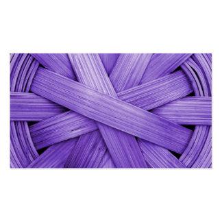 Imagen de la cesta púrpura plantillas de tarjetas de visita