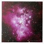 Imagen de la constelación azulejo cuadrado grande