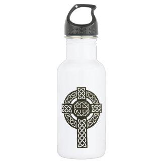 Imagen de la cruz céltica botella de agua de acero inoxidable