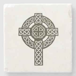 Imagen de la cruz céltica posavasos de piedra