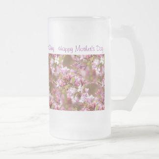 """Imagen de la flor de las lilas """"del día de madre taza de cristal"""
