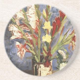 Imagen de la flor del vintage de Van Gogh del publ Posavasos Diseño