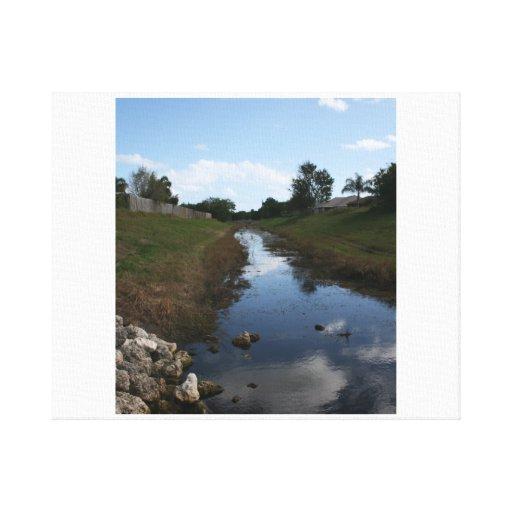 Imagen de la Florida de la casa del agua de la cer Impresiones En Lona Estiradas