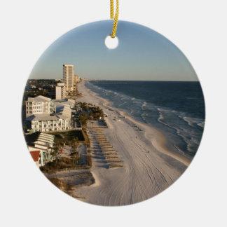 Imagen de la Florida de la playa de ciudad de Adorno Navideño Redondo De Cerámica