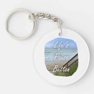 Imagen de la Florida del océano de la playa del bo Llavero Redondo Acrílico A Doble Cara