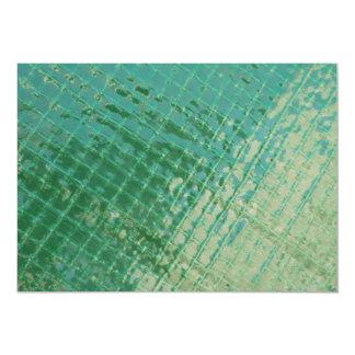 Imagen de la foto de la cubierta plástica verde invitación 12,7 x 17,8 cm