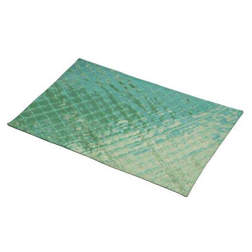 Imagen de la foto de la cubierta plástica verde mantel individual