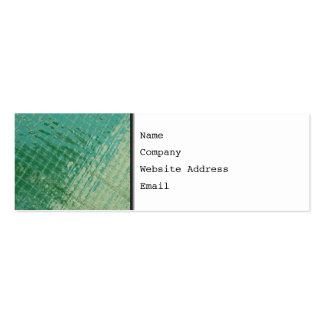 Imagen de la foto de la cubierta plástica verde tarjeta de visita