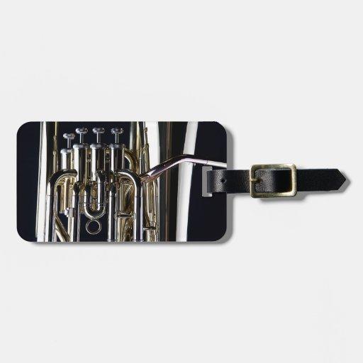 Imagen de la fotografía de la tuba etiquetas para maletas
