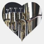 Imagen de la fotografía de la tuba calcomanías corazones