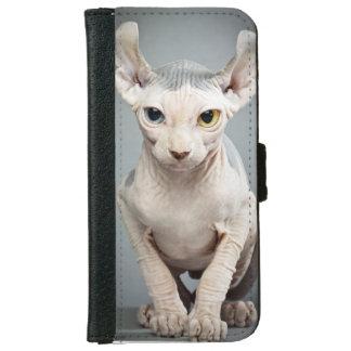 Imagen de la fotografía del gato de la esfinge del funda cartera para iPhone 6
