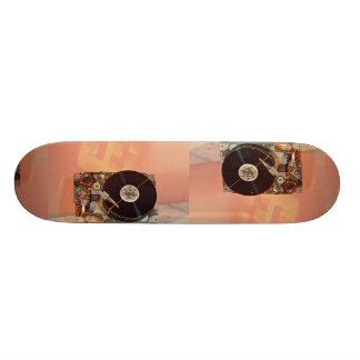 Imagen de la impulsión dura con el fondo del tecla patineta personalizada