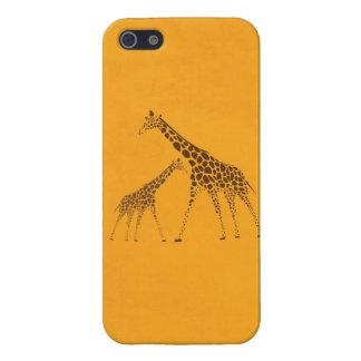 Imagen de la jirafa del animal salvaje iPhone 5 protector