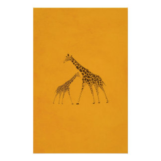 Imagen de la jirafa del animal salvaje póster