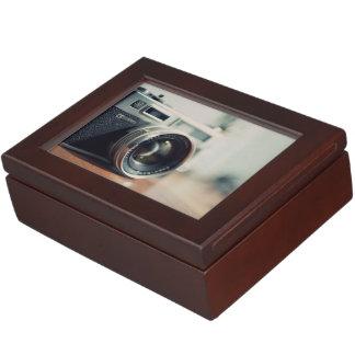imagen de la lente de cámara caja de recuerdos