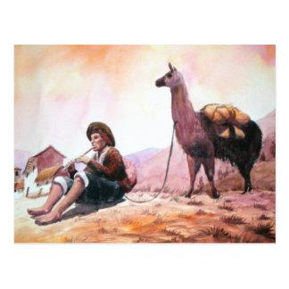 Imagen de la llama de Cusco Perú Postal