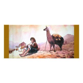 Imagen de la llama de Cusco Perú Tarjetas Publicitarias