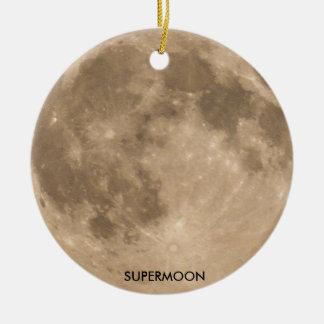 Imagen de la luna para el ornamento del círculo adorno navideño redondo de cerámica