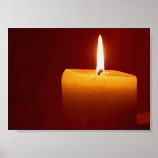 Imagen de la luz de una vela de la vela impresiones