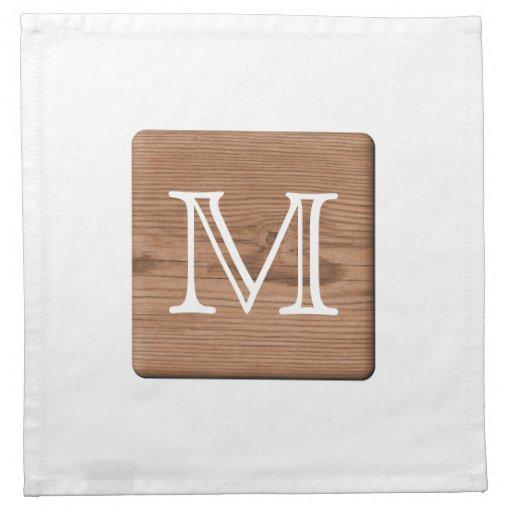 Imagen de la madera de Brown y de la letra del mon Servilletas De Papel