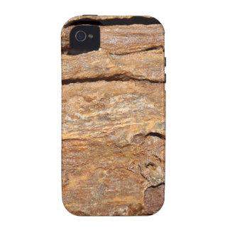 Imagen de la madera fosilizada vibe iPhone 4 carcasa