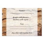 Imagen de la madera fosilizada invitación 8,9 x 12,7 cm