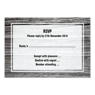 """Imagen de la madera que astilla vieja invitación 3.5"""" x 5"""""""