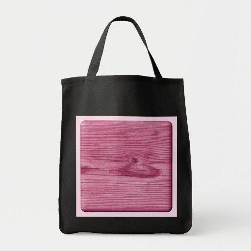 Imagen de la madera rosada bolsa de mano
