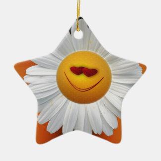 imagen de la margarita ornamento de navidad